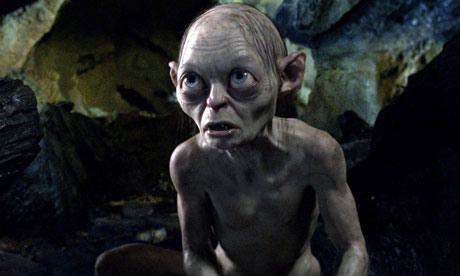 Gollum in the film of The Hobbit