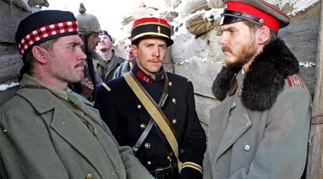 Gordon (Alex Ferns), Audebert (Guillame) Canet, and Horstmayer (Daniel Brühl)