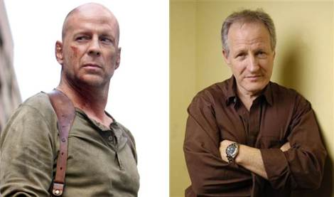 Bruce Willis and Michael Mann