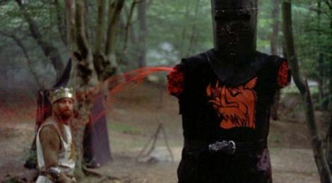 """""""It's just a flesh wound!"""" Courtesy of: Michael White Productions, National Film Trustee Company, Python (Monty) Pictures"""